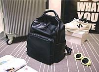 Рюкзак портфель женский черный.