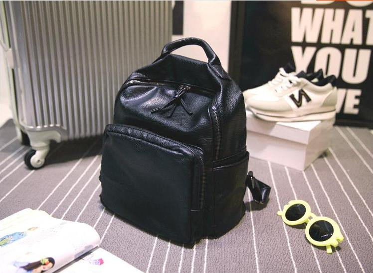 7ccc789d1f62 Купить кожаный рюкзак недорого черный, стильный