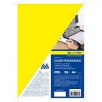 Обложка для переплета Buromax картонная А4 желтая BM.0591-08
