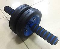 Ролик для пресса двойной усиленный, гимнастический ролик, ролик пресса, тренажер колесо для фитнеса, фото 1