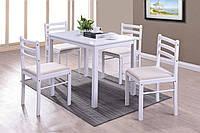 Столовый комплект  Фиеста белый(столы,стулья,обеденная группа,мебель для кухни)