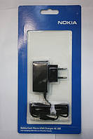 Сетевое зарядное устройство Nokia AC-10E (micro) оригинал в блистере