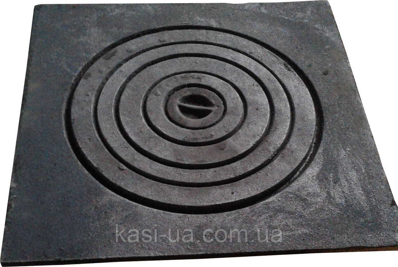 Плита чугунная печная однокомфорочная  под казан ПД-1К (530 х 530 мм.)