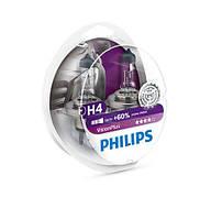 Лампа галогенна (комплект - 2 шт) H4 VisionPlus +60% 12V PHILIPS