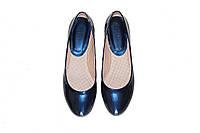 Женские лаковые балетки (синие)  Aillis №5350