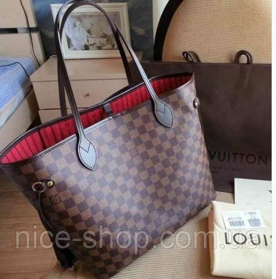9c7dddb30d16 Сумка Louis Vuitton Neverfull Medium коричневая в клетку: продажа ...