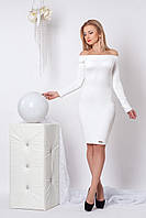 Женское платье футляр №963 (белый)