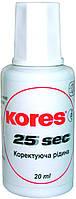 Корректирующая жидкость Kores  25 секунд 20 мл K66817