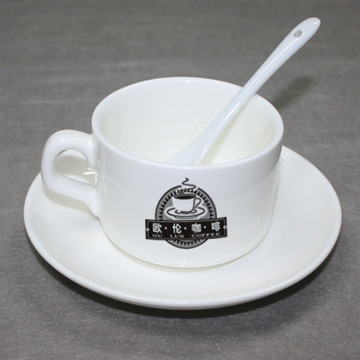 Печать фото на чашках кофейных с блюдцем и ложкой