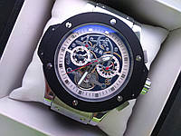 Часы Hublot Skeleton Silver White