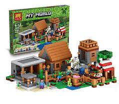 Конструктор Деревня Майнкрафт 79288, 1106 деталей, аналог Lego