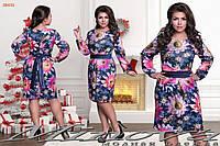 Платье женское принт цветы