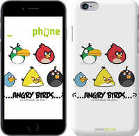"Чехол на iPhone 6 Plus Angry birds. Space on a white background ""540c-48"""