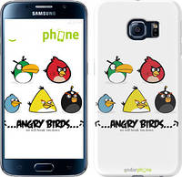 "Чехол на Samsung Galaxy S6 G920 Angry birds. Space on a white background ""540c-80"""
