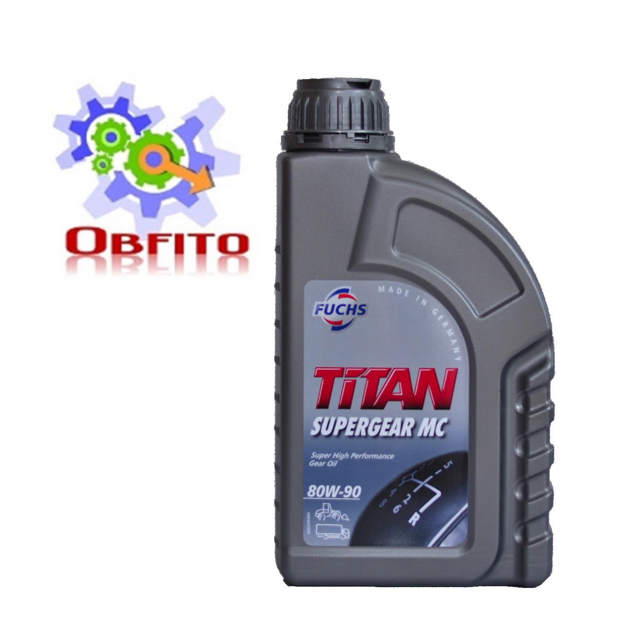 Fuchs TITAN SUPERGEAR MC 80W-90, 1л масло трансмиссионное полусинтетическое