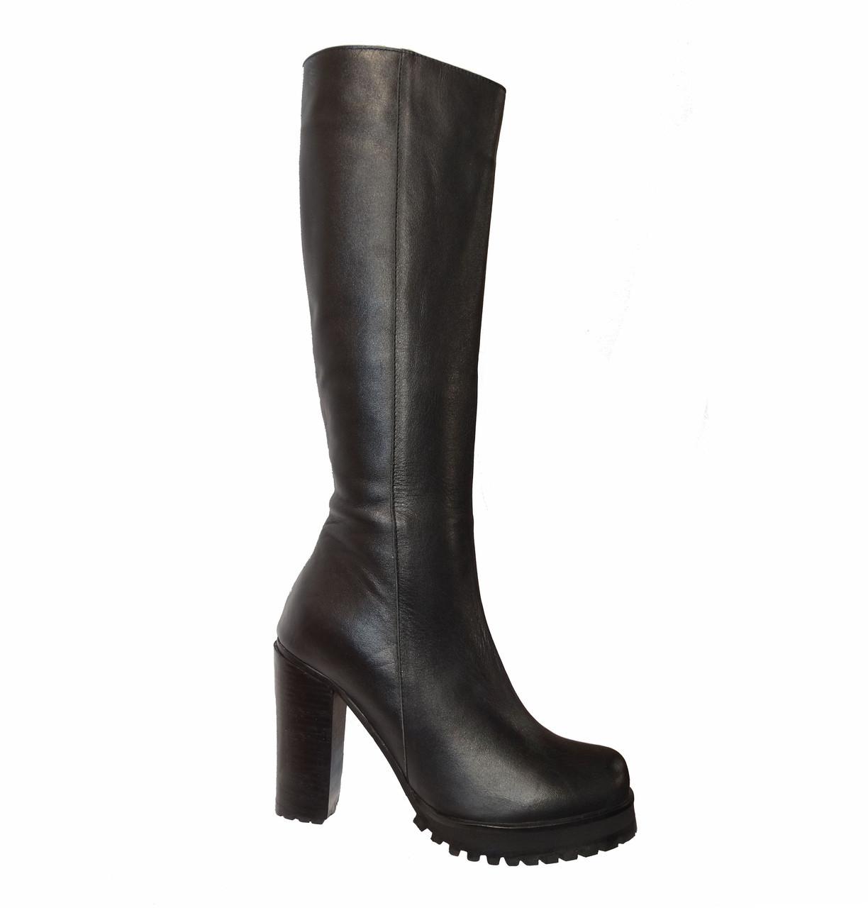 9a3388a7e170 Женские кожаные зимние сапоги на каблуке Tucino №101-1143