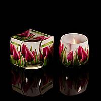 Свечи Тюльпан в стакане, ароматизированные