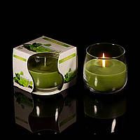 Свечи Зеленый чай в стакане, ароматизированные