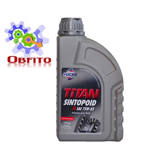 Fuchs TITAN SINTOPOID FE 75W-85, 1л масло трансмиссионное синтетическое