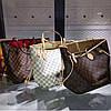 Сумка Louis Vuitton Neverfull Large коричневая в клетку, фото 4