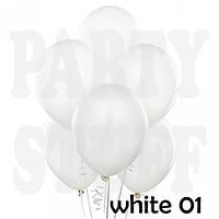 Воздушные шарики Gemar А50 пастель Белый, 5' (13 см) 100 шт