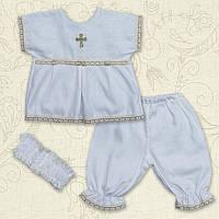 Костюм Свято Девочка Миткаль Цвет белый, молочный размер 56-68 Бетис