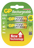 Аккумуляторы GP Batteries AA (R6) 2700mAh NiMh 2 шт (GP270AAHC-2PL2),1.2V