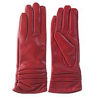 Перчатки женские (кожаные, красные, стильные, теплые)