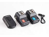 Радиосинхронизатор DSLR-kit PT-04 для Canon, Nikon, др. (1 передатчик 2 приемника)