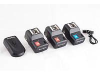 Радиосинхронизатор DSLR-kit PT-04 для Canon, Nikon, др. (1 передатчик 3 приемника)