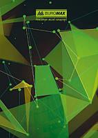 Книга учета Buromax Космос 96 листов, клетка, офсет, твердая ламинированная обложка А4, салатовая BM.2400-815