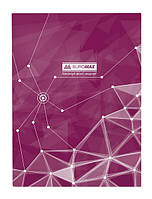 Книга учета Buromax Пирамиды 96 листов, клетка, офсет, твердая ламинированная обложка А4, фиолетовая BM.2400-707