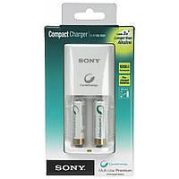 Зарядний пристрій SONY Compact charger+2xAA 1000mAh (BCG34HS2R)