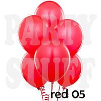 Воздушные шарики Gemar А50 пастель Красный, 5' (13 см) 100 шт