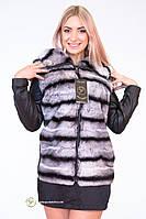 Куртка-трансформер из меха шиншиллы-рекс «Аниса»