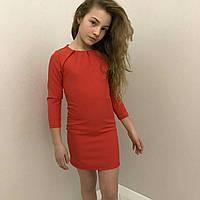 Туника  для девочек 9-14  лет,красная