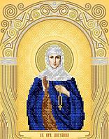 Рисунок на атласе для вышивания бисером Св. Прп. Ангелина АС4-140