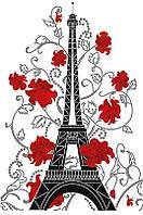 Рисунок на атласе для вышивания бисером Цветущий Париж АХ2-045