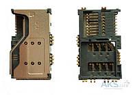 (Коннектор) Aksline Разъем SIM-карты Lenovo A60 / P70 / P700I / A789 / A65