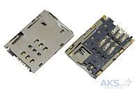 (Коннектор) Aksline Разъем SIM-карты Lenovo A3300  A7-30HC