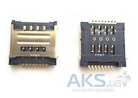 (Коннектор) Aksline Разъем SIM-карты Lenovo A586 / A686 / A800