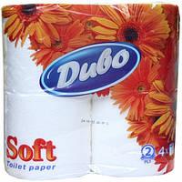 Бумага туалетная Диво Soft целлюлозная 4 рулона/уп 2-х слойная белая tp.dv4b