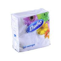 Салфетки бумажные Диво белые 240х240, 50шт/уп cp.dv24x25/50