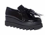 Лаковые женские демисезонные ботинки на платформе Pier Lucci №456