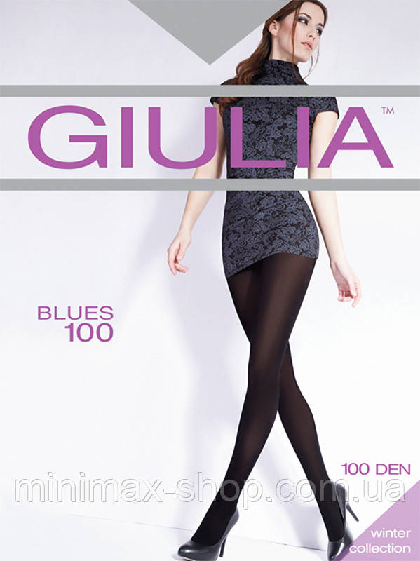 Колготки женские Теплые из Микрофибры BLUES 100 GIULIA