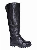 Женские кожаные зимние сапоги низкий ход Tucino №252-1053