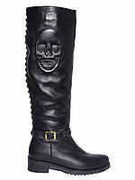 Женские кожаные зимние сапоги низкий ход Tucino №152-9245