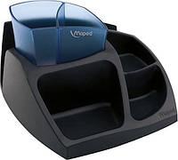 Подставка для офисных принадлежностей Maped Essentials Green Compact, черный с синим MP.575400