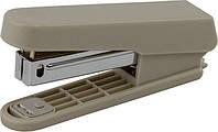 Степлер пластиковый плоский Buromax Jobmax 10 листов скобы №10 серый BM.4101-09