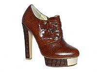 Женские кожаные демисезонные ботильоны на каблуке Glossi №К-673G-5-10